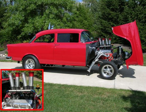 '55 Chevy with big block Chevy and Kinsler EFI system