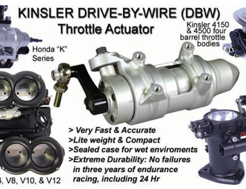 Kinsler Drive-By-Wire (DBW) Throttle Actuator